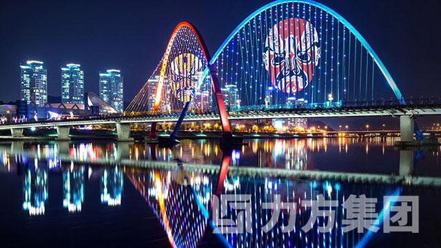 夜游锦江江滩公园亮化
