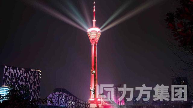 夜游锦江339熊猫爬塔