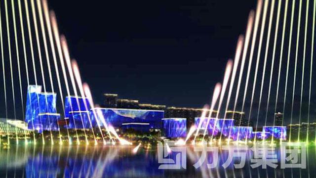 兴隆湖水舞灯光秀